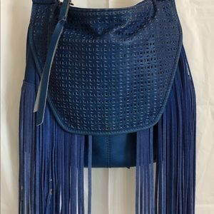 🍀 LUCKY BRAND leather fringe purse